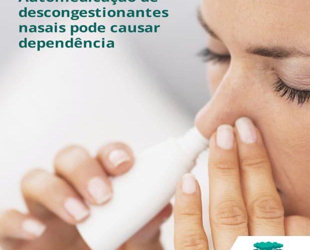Automedicação de descongestionantes nasais pode causar dependência
