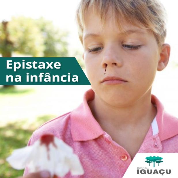 Epistaxe na infância: causas e tratamentos